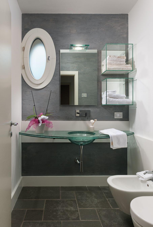 Bagno Imax Top In Vetro Con Lavello Integrato E Pensili In Vetro Arredamento Bagno Bagno Bagno Legno