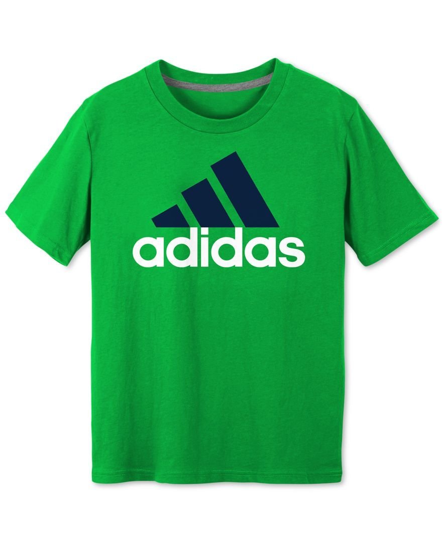adidas Boys' Logo T Shirt | T shirt, Tee shirts, Boys