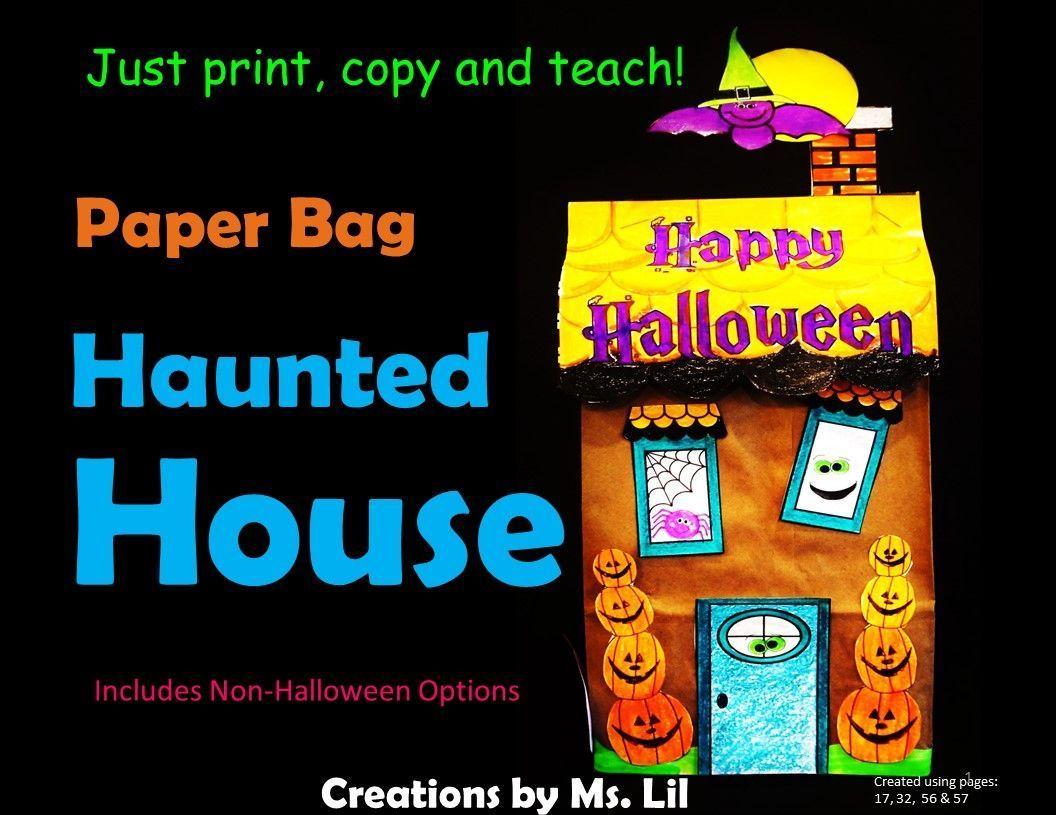 Halloween Haunted House Craft Halloween Craft Paper
