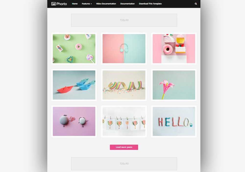 Phorto Blogger Template For Photography Website Blogger Templates Free Blogger Templates Photography Website