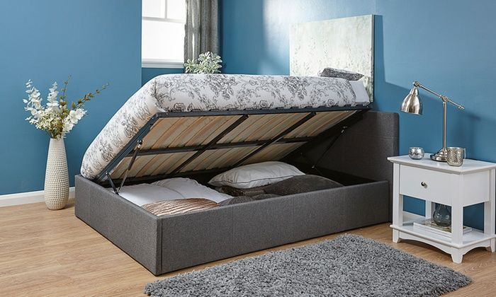 Sensational Ottoman Bed With End Or Side Lift Groupon Guest Bedroom Onthecornerstone Fun Painted Chair Ideas Images Onthecornerstoneorg