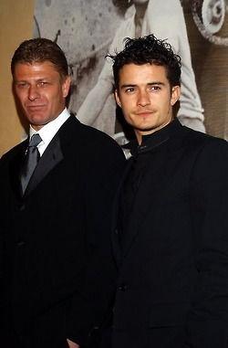 Sean Bean and Orlando Bloom