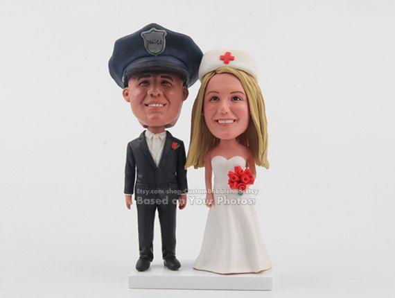 POLICE AND NURSE Wedding Cake Topper, wedding cake topper funny ...