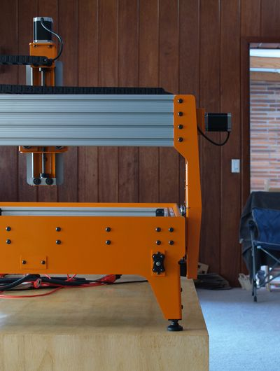 Detalhe plataforma CNC Traseira