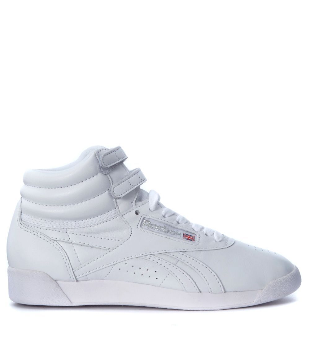 8603f894716da REEBOK FREESTYLE HI OG LUX WHITE LEATHER SNEAKER.  reebok  shoes