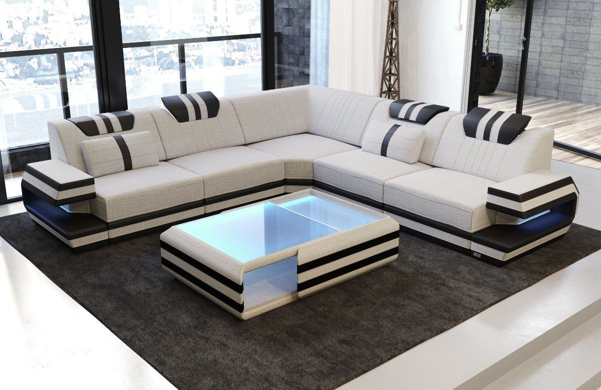Modern Sectional Fabric Sofa San Antonio L Shape With Led Sectional Sofas Living Room Corner Sofa Design Modern Sofa Living Room