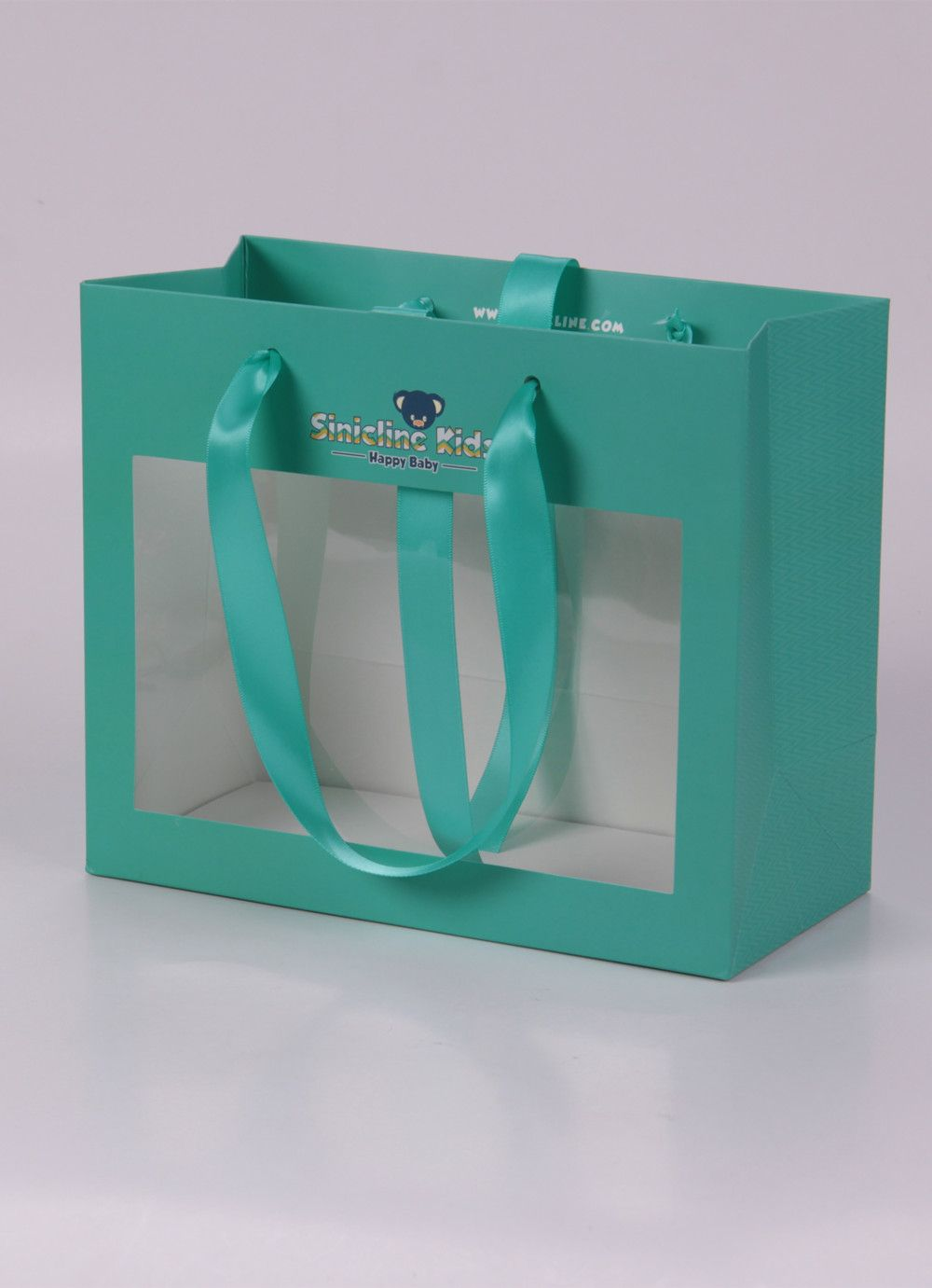 Custom paper bag with see-through window #paperbag # ...