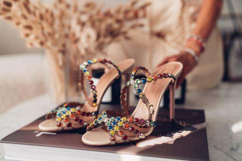 colorful designer heels