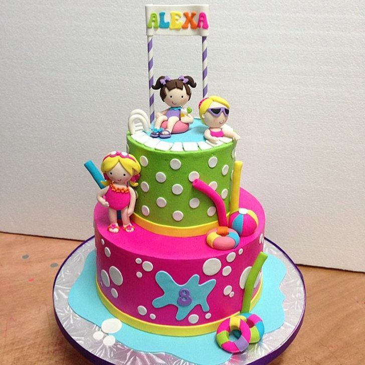 25 pool party cakes that make a splash pool party cakes cake 25 pool party cakes that make a splash sciox Choice Image