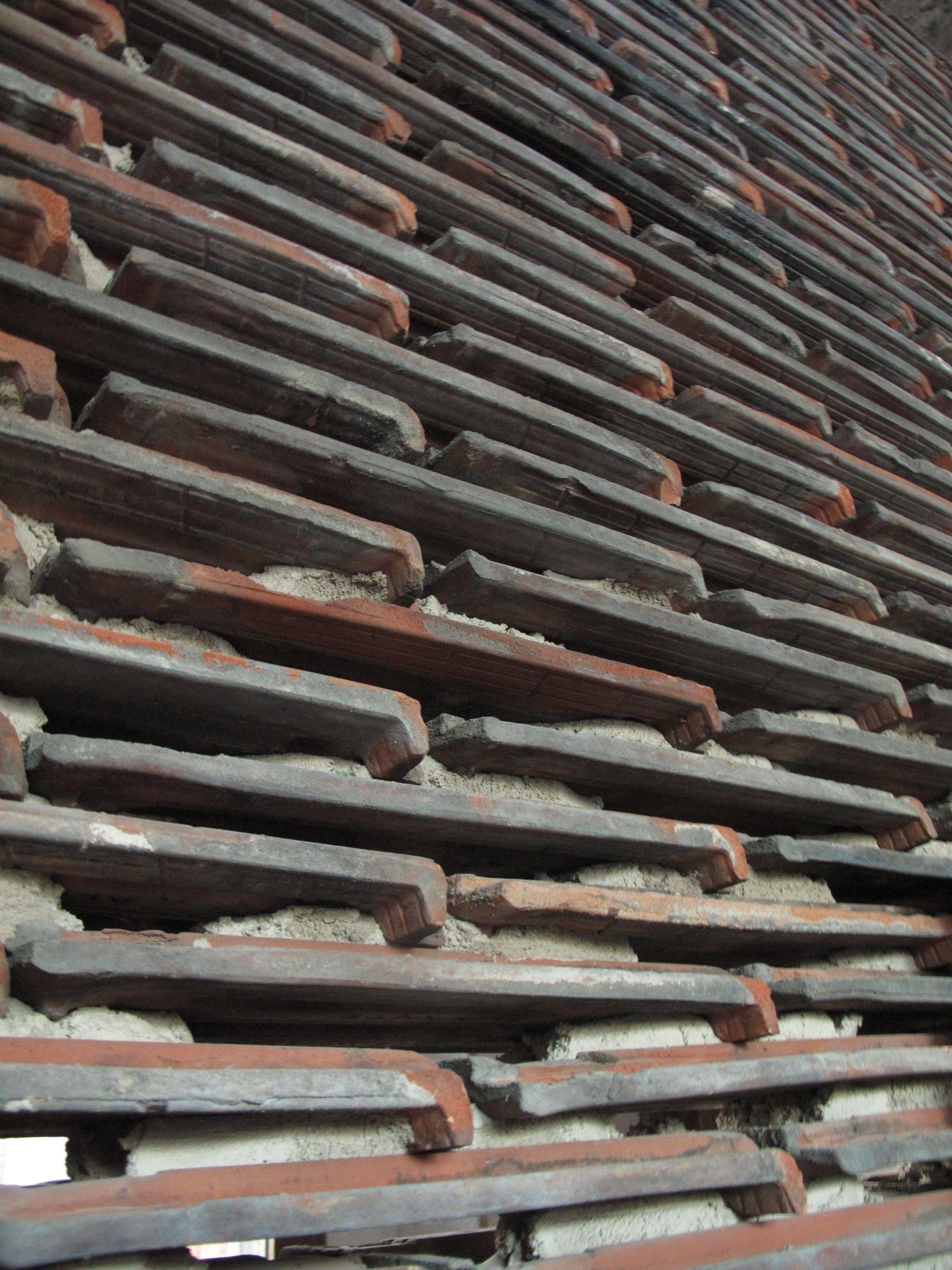 Muro de tejas