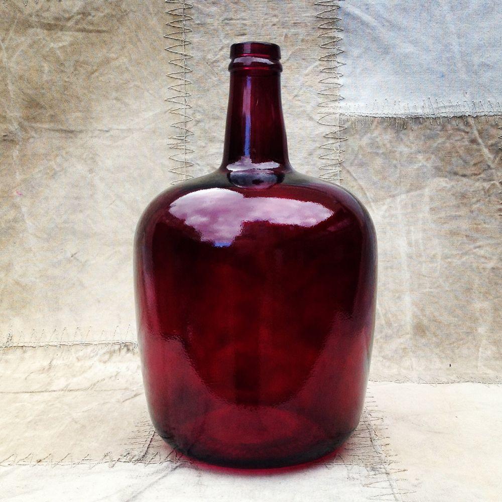 Burgundy Bottle The Mintlist Colored Glass Bottles Bottle Burgundy