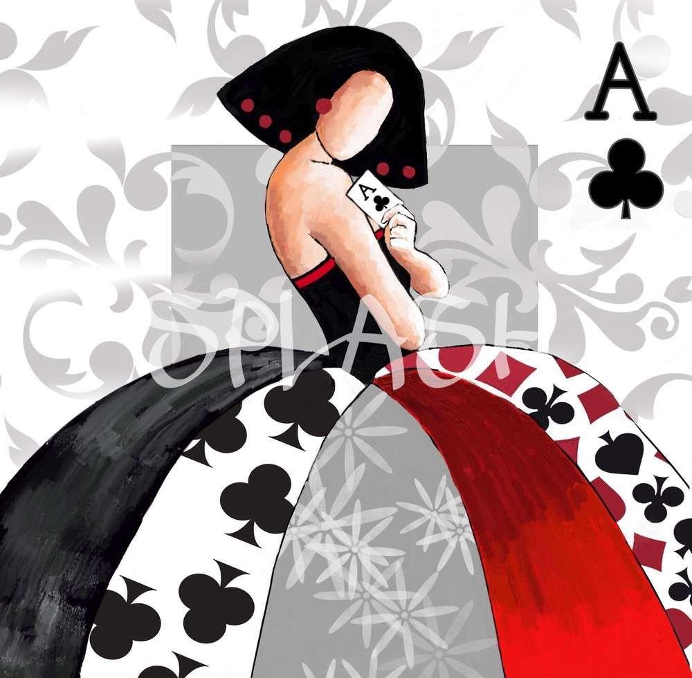 Cuadro menina moderna poker 1 rojo negro sp303 meninas - Cuadros de meninas modernos ...