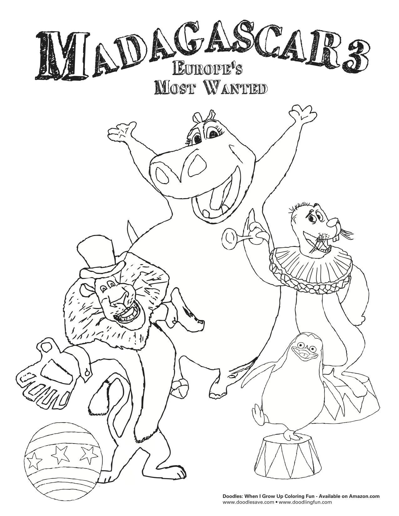 Madagascar coloring games online - Madagascar Coloring Sheets Doodlesave Com