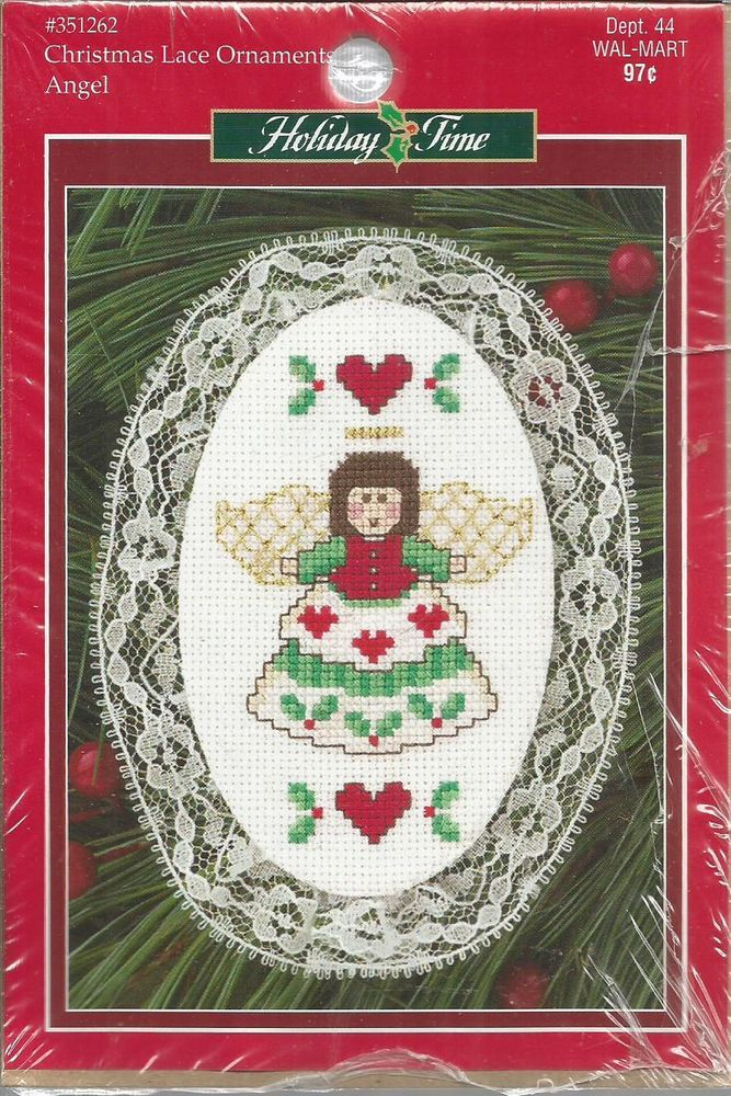 "LEISURE ARTS CHRISTMAS LACE ORNAMENT CROSS STITCH KIT ""ANGEL"" #127 #LeisureArts #ORNAMENT"