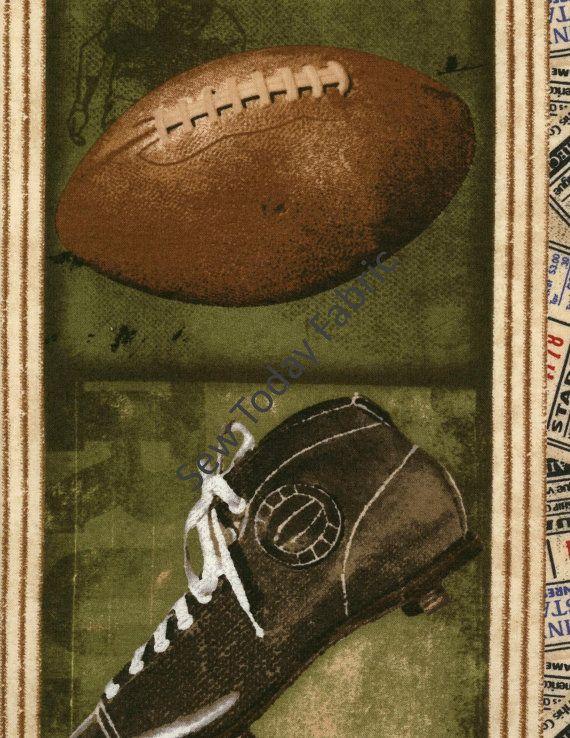 Vintage Varsity Sport Border Stripe - Vintage Varsity Collection - Wilmington Prints Q1031-84364-247 (sold by the 1/2 yard)