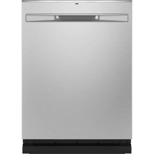 Ge Stainless Steel Interior Fingerprint Resistant Dishwasher With Hidden Controls Stainless Steel Gdp645synfs Best Buy Built In Dishwasher Steel Tub Dishwasher