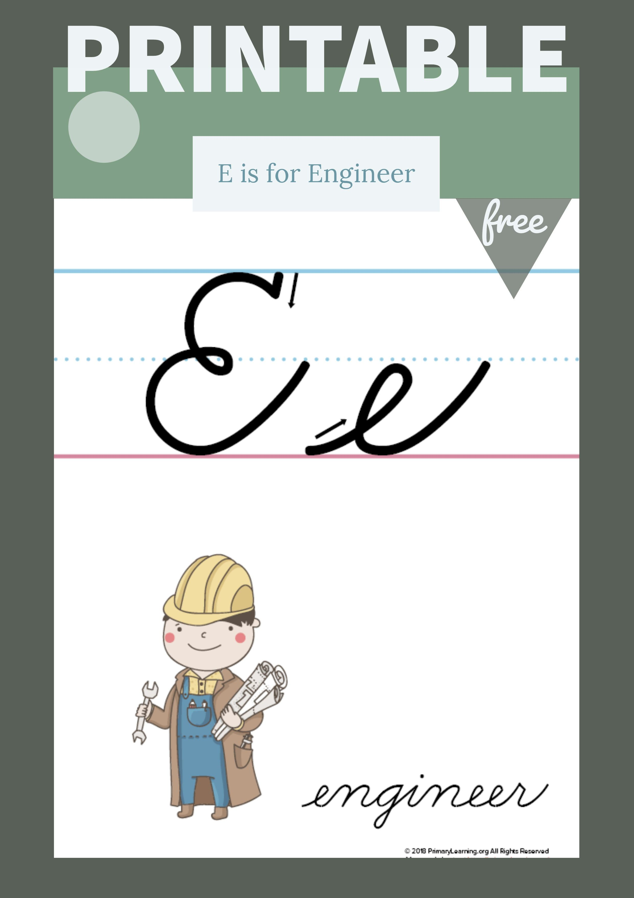 The Letter E In Cursive