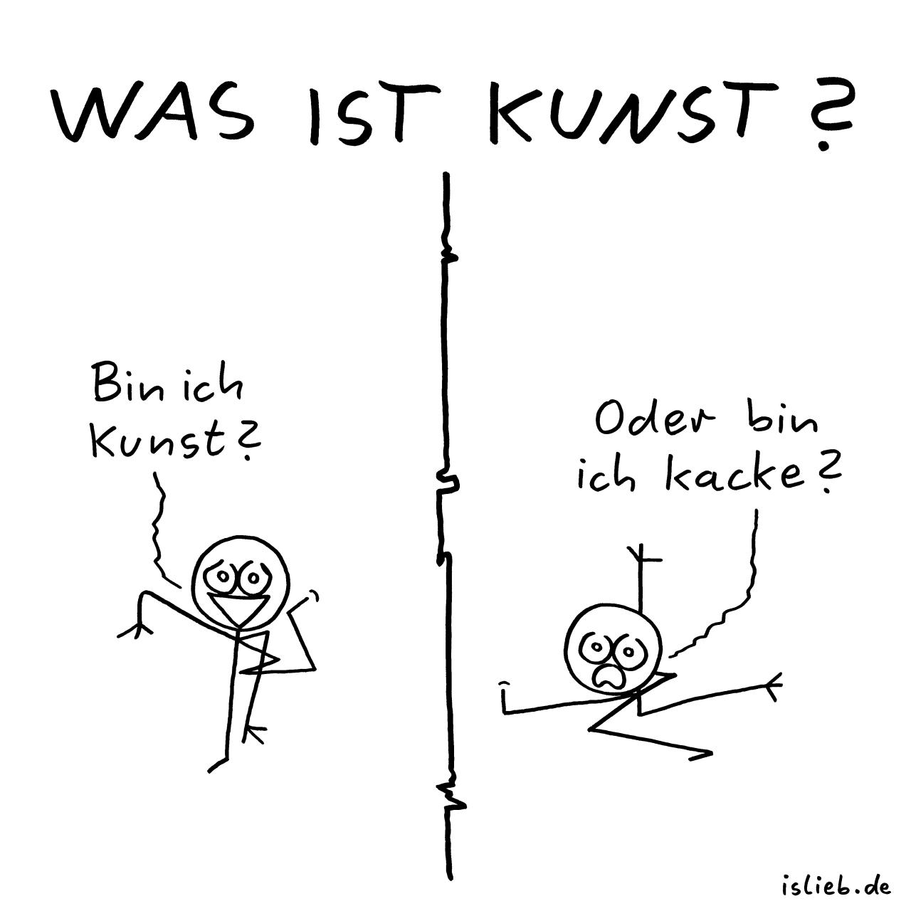 Was ist Kunst?| >> islieb auf twitter - #cartoon #frage #humor #islieb #kunst #künstler