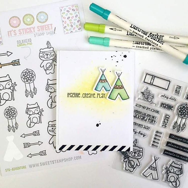 @sammann11 is in LOVE with these stickers. Not only because they are adorable but also because they're the perfect companion to the coordinating stamp sets. We agree with Sam, how about you?