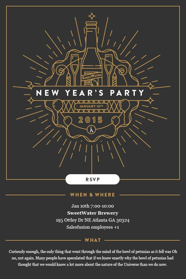 Dribbble - 141105_New_Years_Invite.jpg by Daniel Haire | New year ...