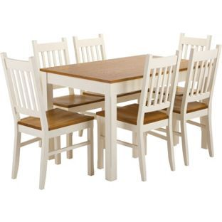 Chiltern Dining Table and 6 Chairs from Homebase.co.uk  sc 1 st  Pinterest & Chiltern Dining Table and 6 Chairs from Homebase.co.uk | Living ...