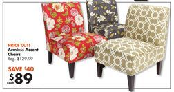 Best Armless Accent Chairs From Big Lots 89 00 32 Off 400 x 300