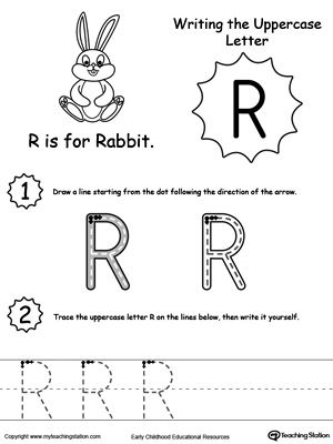 writing uppercase letter r projects to try letter worksheets for preschool printable. Black Bedroom Furniture Sets. Home Design Ideas