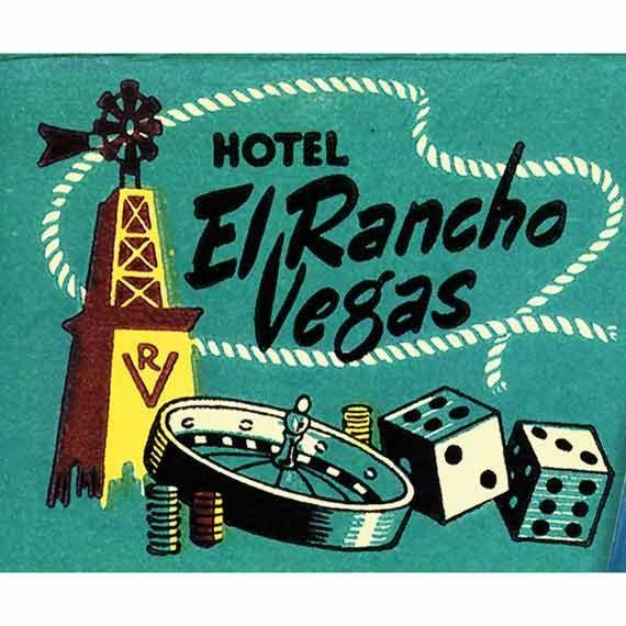 Vintage Photo Print Las Vegas 1940s The El Rancho Nevada