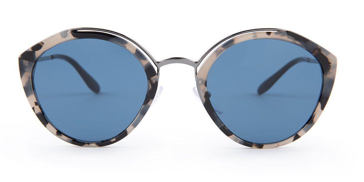 c2a66cba0b2b Prada SPR18U Gray Havana   Blue Lens Sunglasses