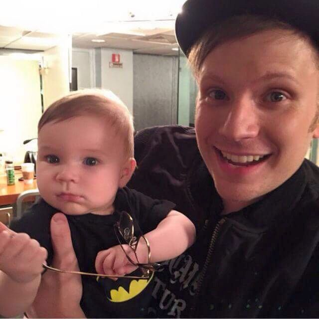 Patrick Stump's child, Declan they look SO much alike even the hair so *CUTE* plus hr has Patrick's glasses