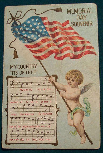 Vintage Memorial day Postcard by riptheskull, via Flickr