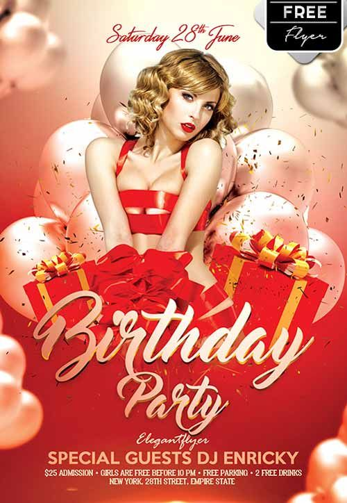 Birthday Party Free Flyer Template -    freepsdflyer - birthday flyer templates free