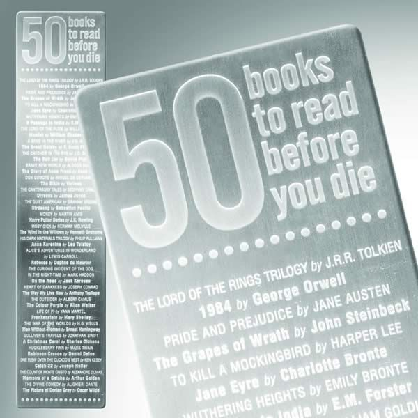 50 Books To Read Before You Die Bookmark With Images Books