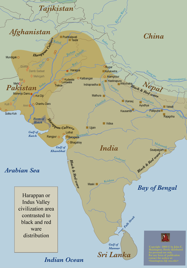 indus valley civilization map - 600×858