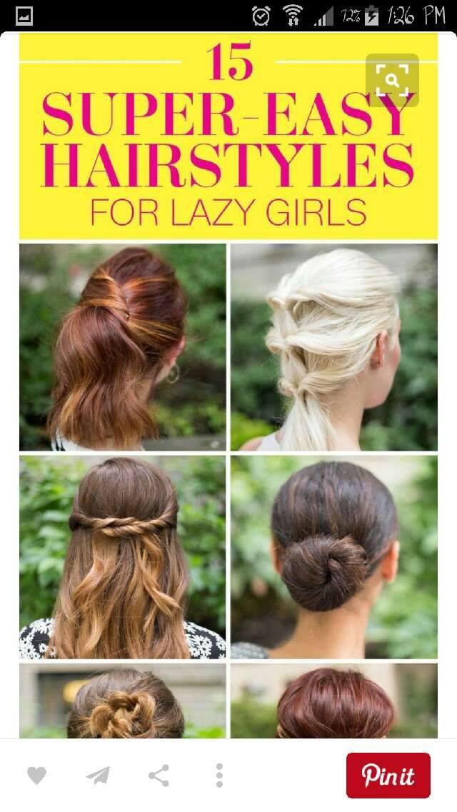 15 Super Easy Hairstyles For Lazy Girls Super Easy Hairstyles Easy Hairstyles Cute Hairstyles For Medium Hair