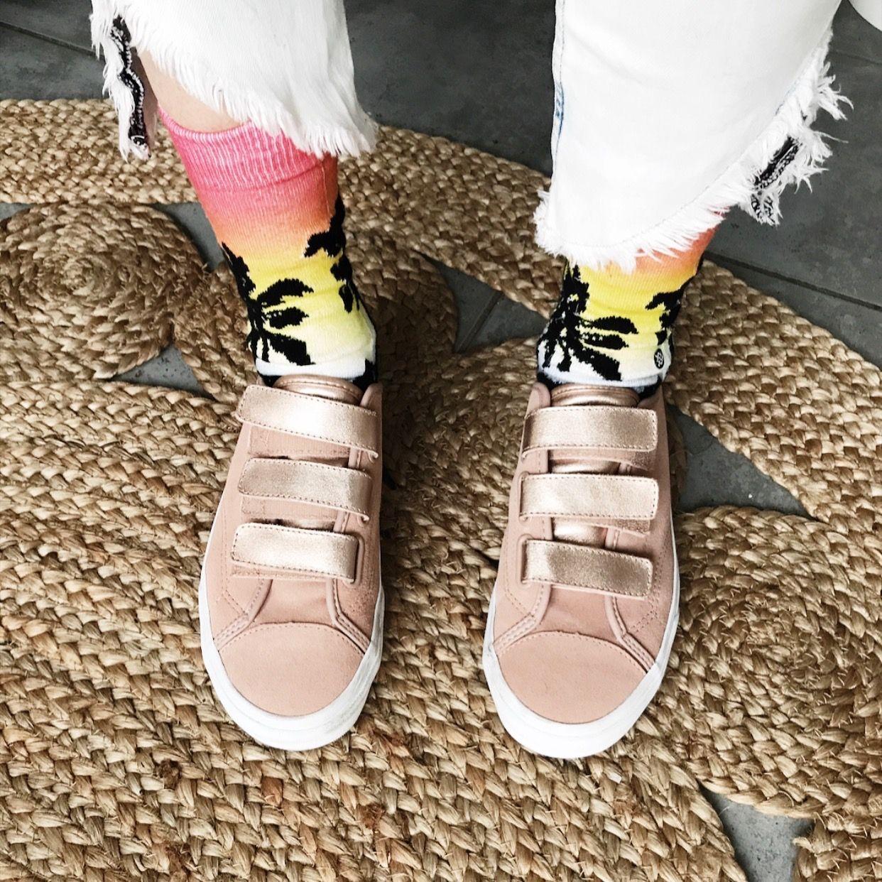 Vans mit Klettverschluss und California Socken #vans