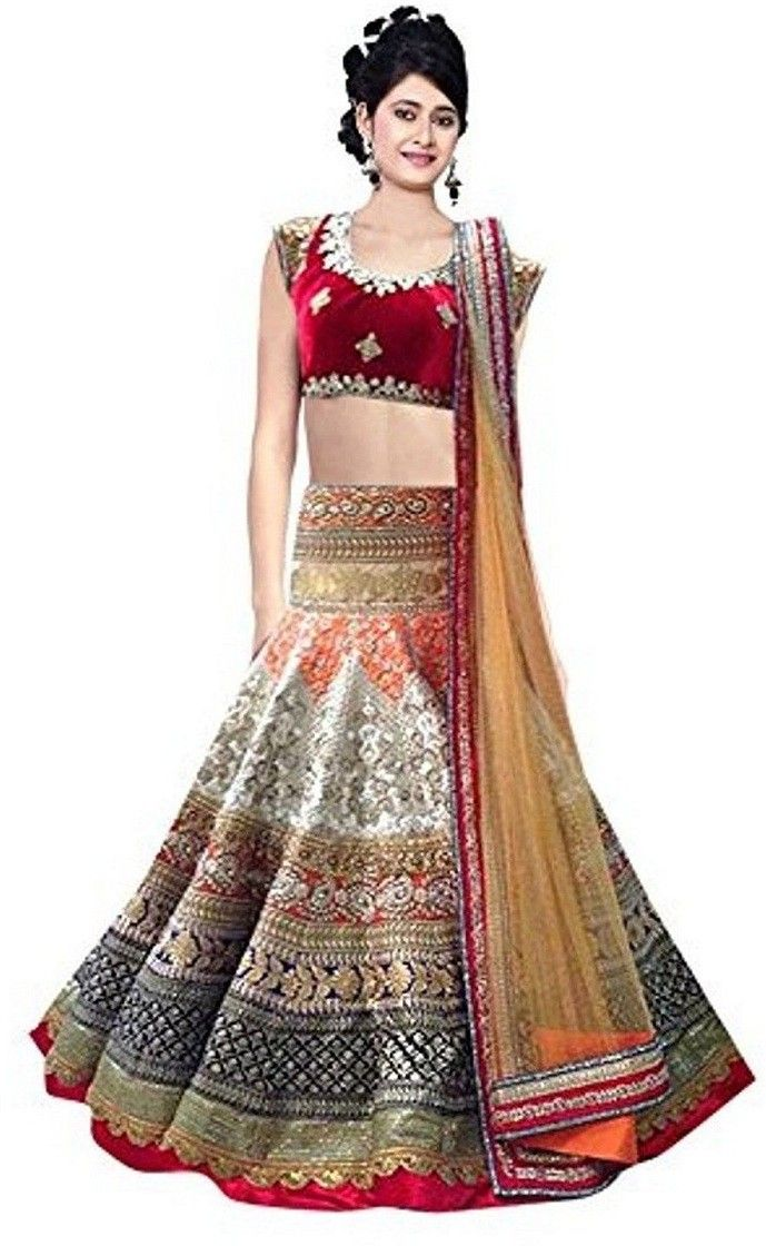95c4c9306e505f #Fashion #Rudraksh Embroidered #Women's #Lehenga, #Choli and #Dupatta Set  #Maroon #Flipkart #Ootd #India