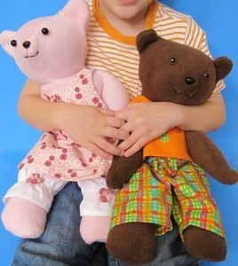 Image of Quick & Easy Dress Up Teddy Bear and Clothing Sewing Pattern PDF