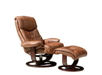 Marx Leather Match Swivel Reclining Chair And Ottoman Recliners Raymour And Flanigan Furniture Recliner Mattress Furniture Leather Recliner