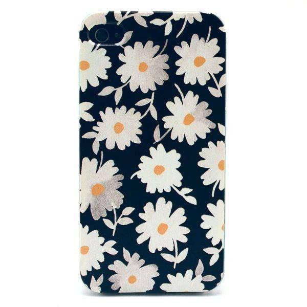 Chrysanthemum bloemen hardcase hoesje voor iPhone 4 / 4S