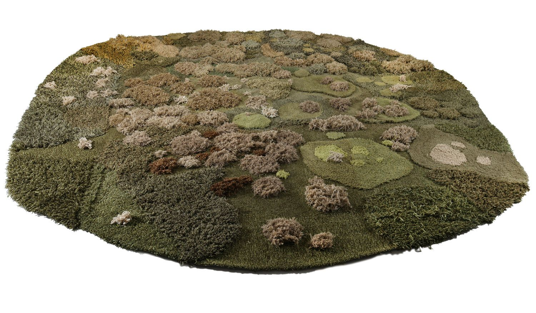 Magazine Alexandra Kehayoglou Makes Minature Meadow Carpets Techos Suelos Pastizal