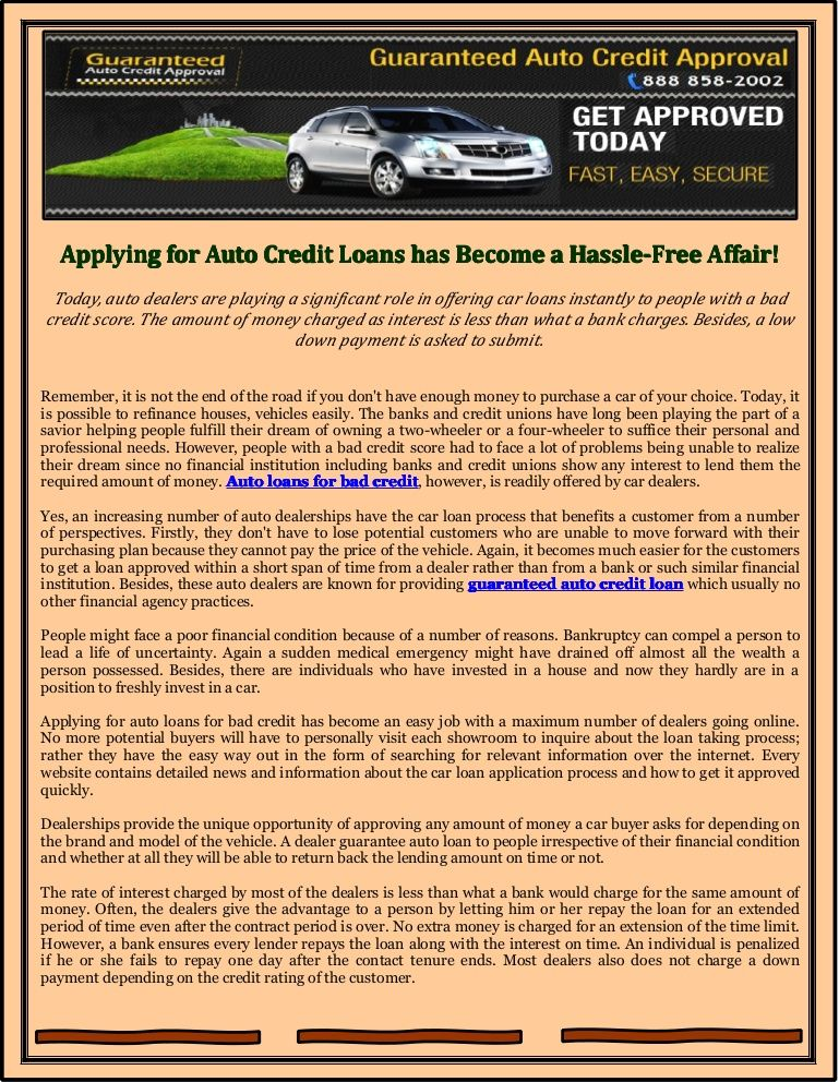 Guaranteed Auto Loan Dealerships >> 10 Best Auto Credit Loans Images In 2013 No Credit Loans
