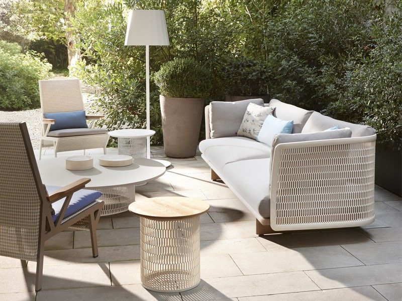 Buy The Kettal Mesh Three Seater Sofa At Nest Co Uk Three Seater Sofa Outdoor Sofa Outdoor Furniture
