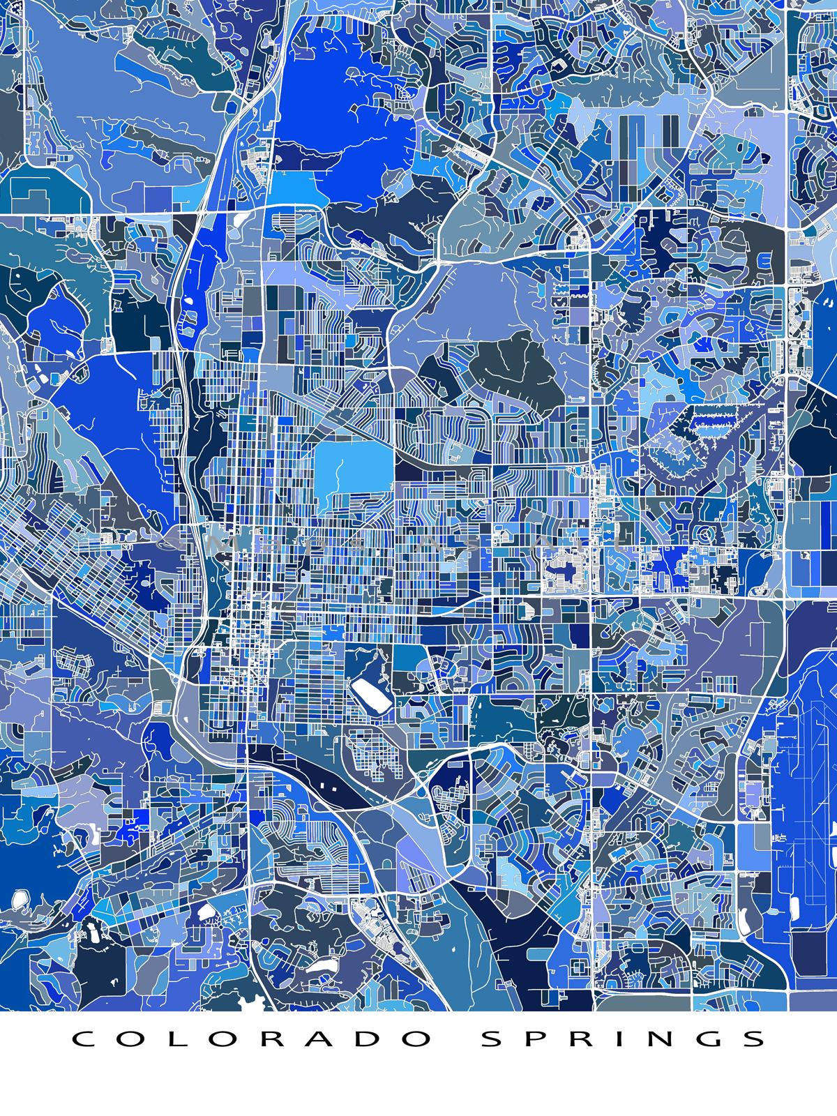 Color printing colorado springs - Do You Love Colorado Springs Colorado Then This Colorado Springs Map Print