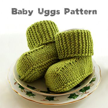Free Knitting Pattern Knitted Baby Uggs Baby Stuff Pinterest
