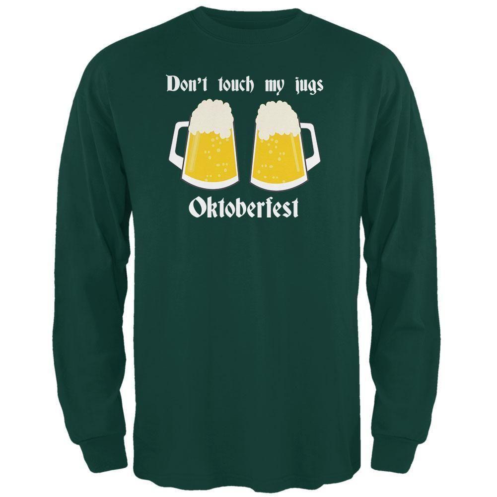 2395  Oktoberfest Dont Touch My Jugs German Beer Stein Mens Long Sleeve T Shirt