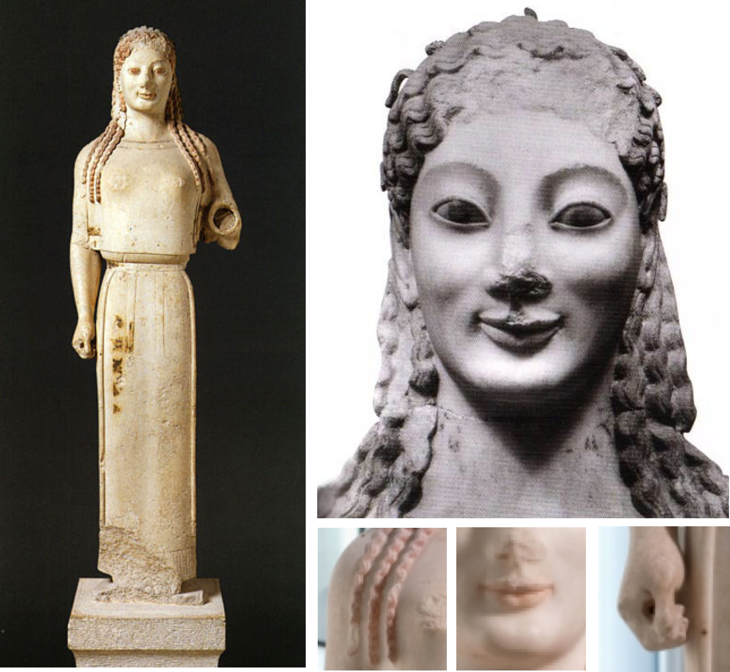 The kouros and kore statues the sculptures that dominated the archaic greek art