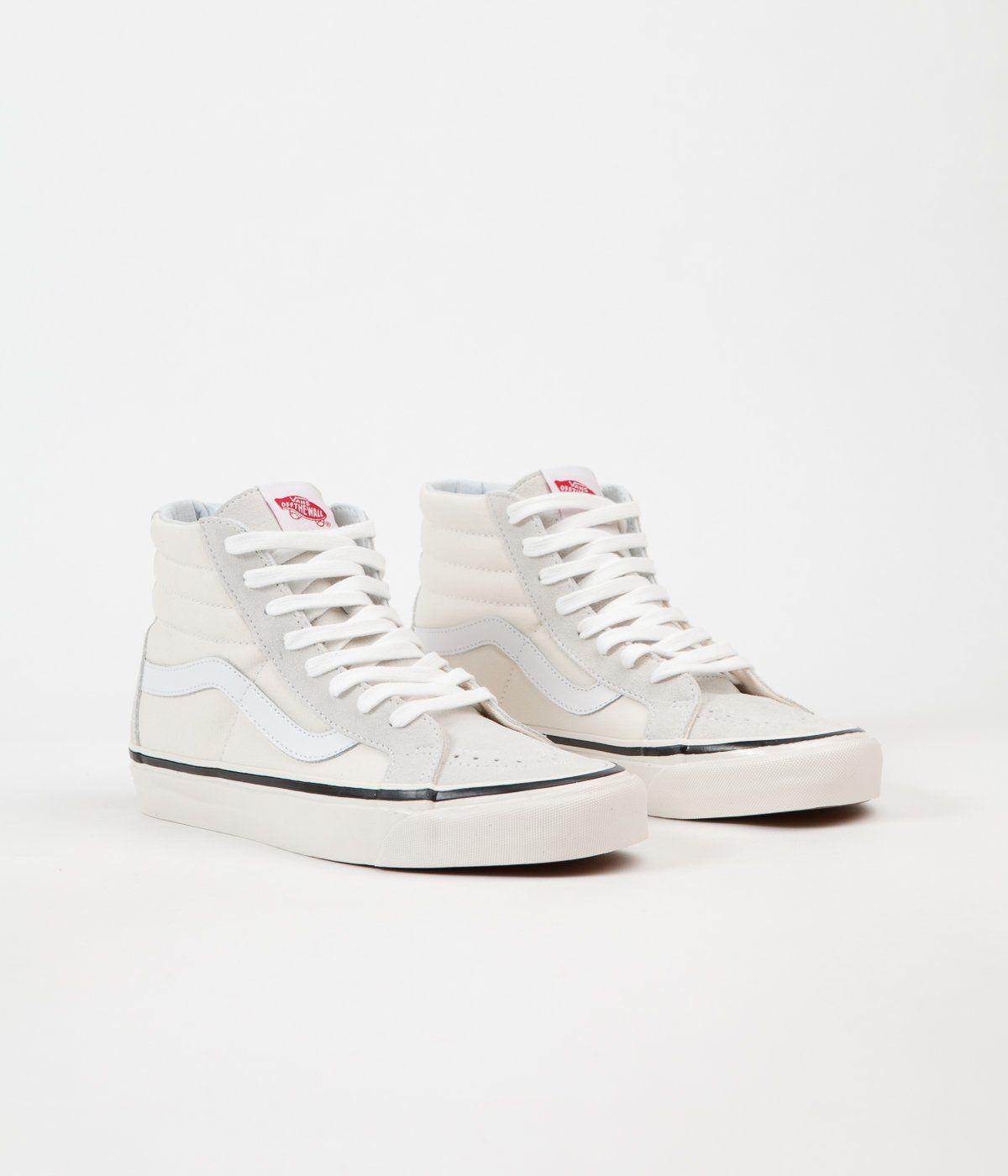Vans Sk8-Hi 38 DX Anaheim Factory Shoes - OG White | High ...