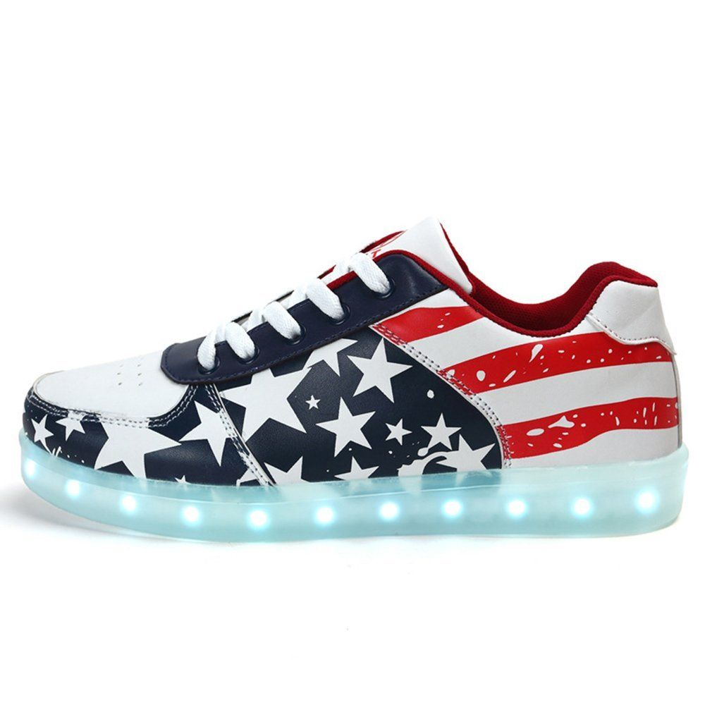 outlet store c650c a28e3 ... spain adidas superstar slip on amazon amazon dynasty unisex light up  shoes usa flag for youth