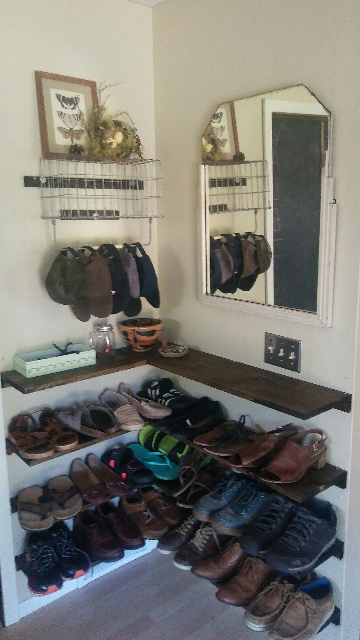 Diy L Shaped Shelves Shoe Storage Shoes Shelves Easy Shoe
